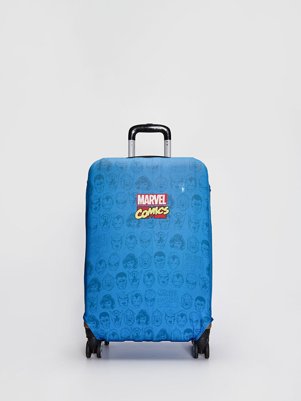 Mavi Marvel Baskılı Orta Boy Valiz Kılıfı 0W5579Z8 LC Waikiki