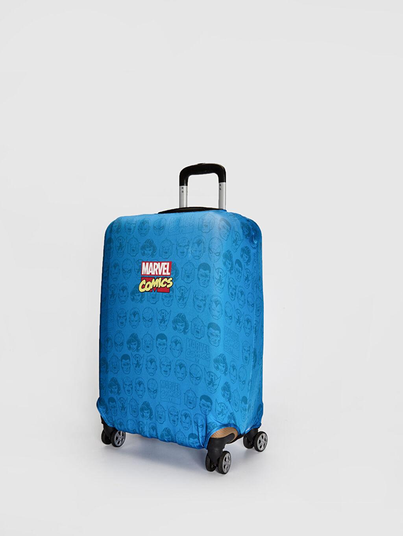 %91 Polyester %9 Elastan Avangers Valiz Kılıfı Marvel Baskılı Orta Boy Valiz Kılıfı