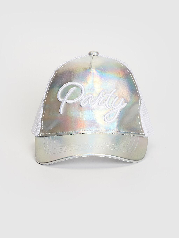 Şapka Kep Kız Çocuk Yazı Nakışlı Hologram Şapka