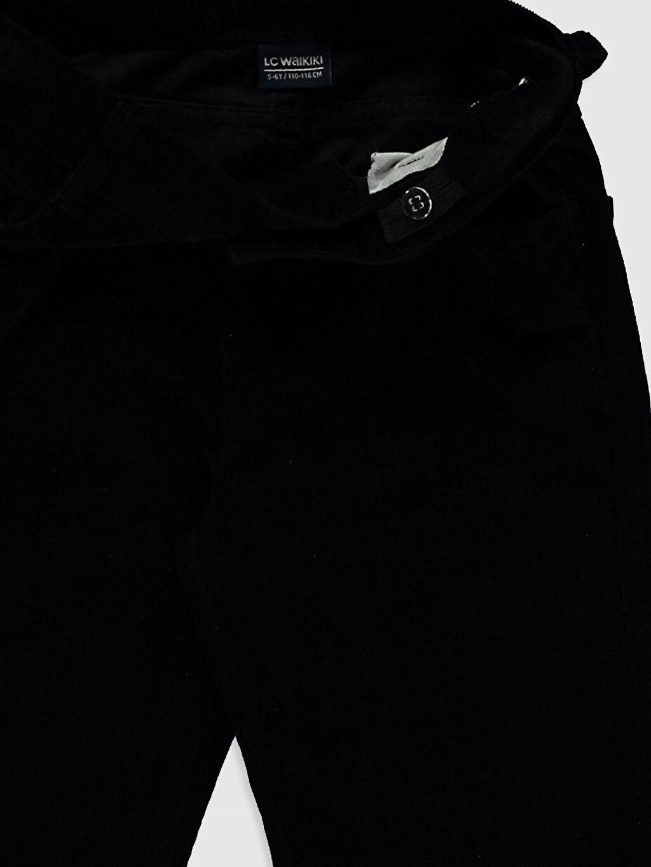 LC Waikiki Siyah Erkek Çocuk Kadife Pantolon