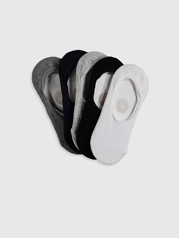 Beyaz Kız Çocuk Babet Çorap 5'Li 0W6184Z4 LC Waikiki