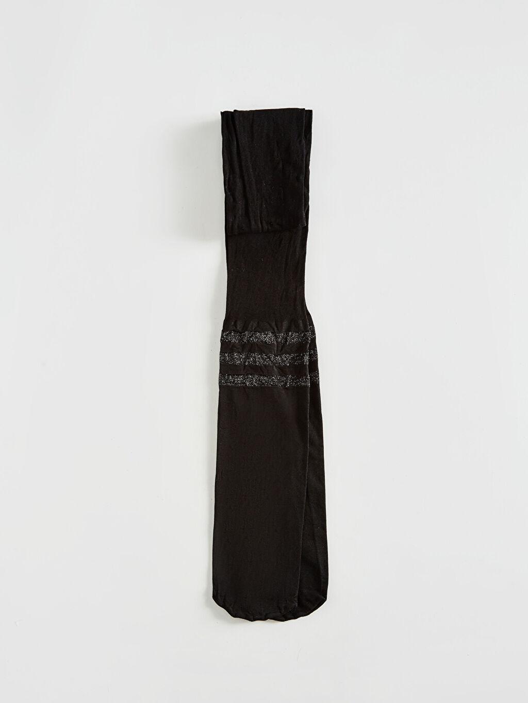 Siyah Kız Çocuk Külotlu Çorap 0W6256Z4 LC Waikiki