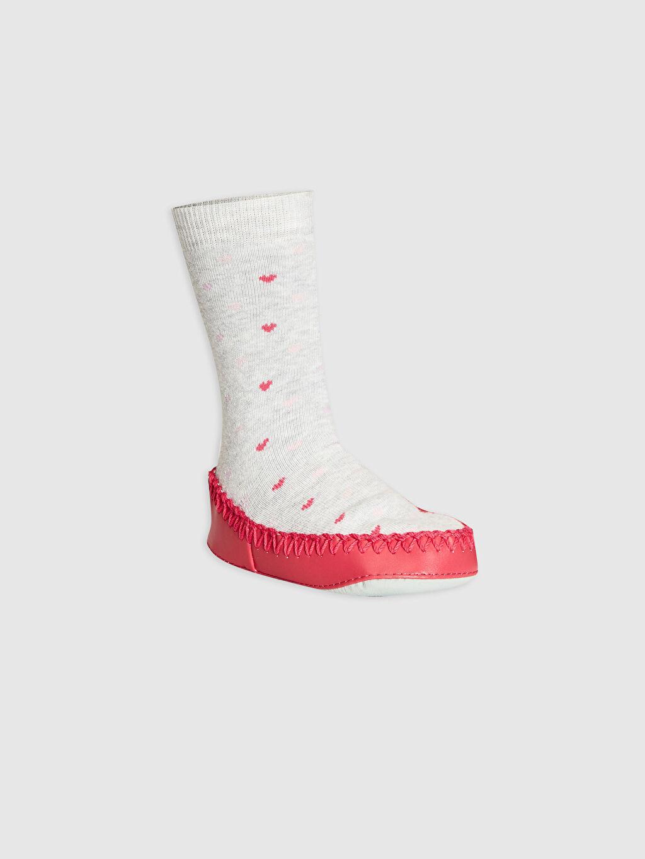 Gri Kız Bebek Ev Çorabı 0W7682Z1 LC Waikiki