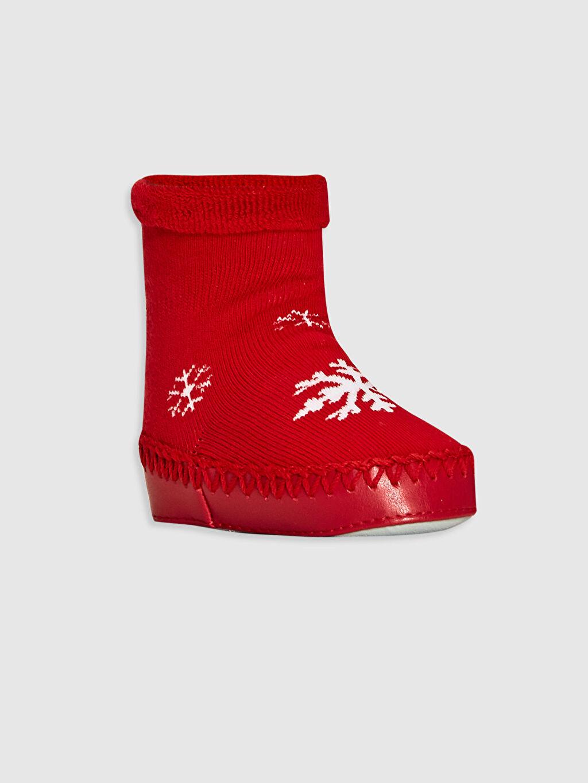 Kırmızı Kız Bebek Ev Çorabı 0W7683Z1 LC Waikiki