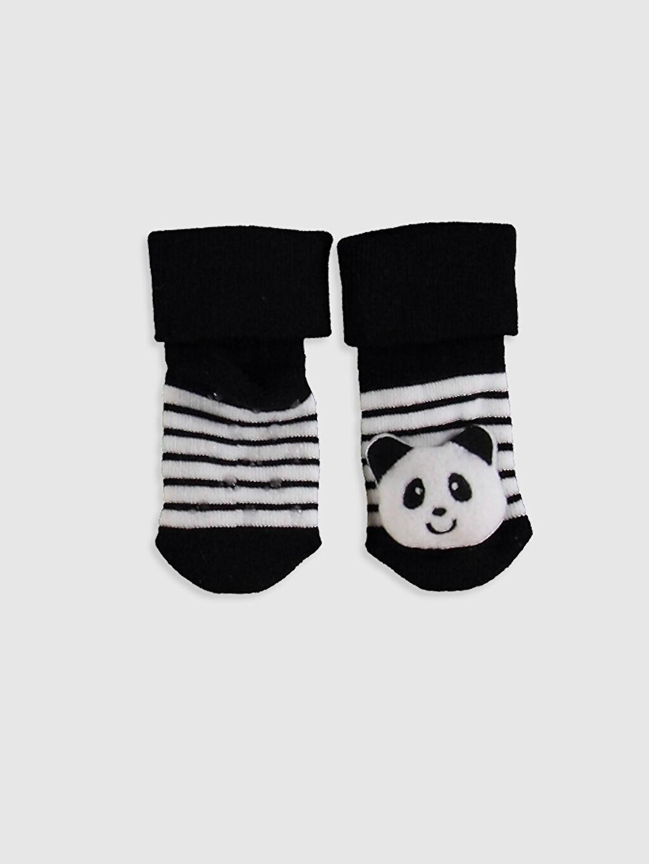 %84 Pamuk %14 Poliamid %2 Elastan Kalın Baskılı Ev Çorabı Havlu Kumaş Yüksek Pamuk İçerir Erkek Bebek Soket Çorap