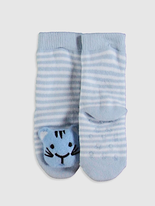 %88 Pamuk %11 Poliamid %1 Elastan Kalın Soket Çorap Baskılı Yüksek Pamuk İçerir Erkek Bebek Soket Çorap
