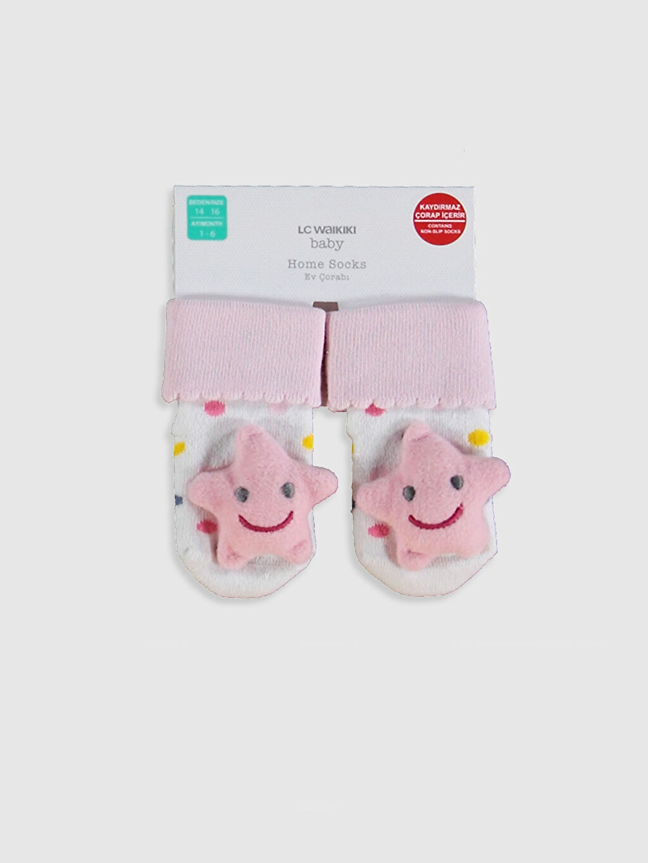 Ekru Kız Bebek Ev Çorabı 0W7903Z1 LC Waikiki