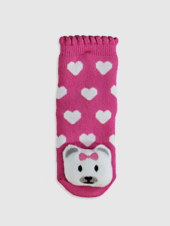 %76 Pamuk %22 Poliamid %2 Elastan Baskılı Kalın Soket Çorap Yüksek Pamuk İçerir Kız Bebek Soket Çorap