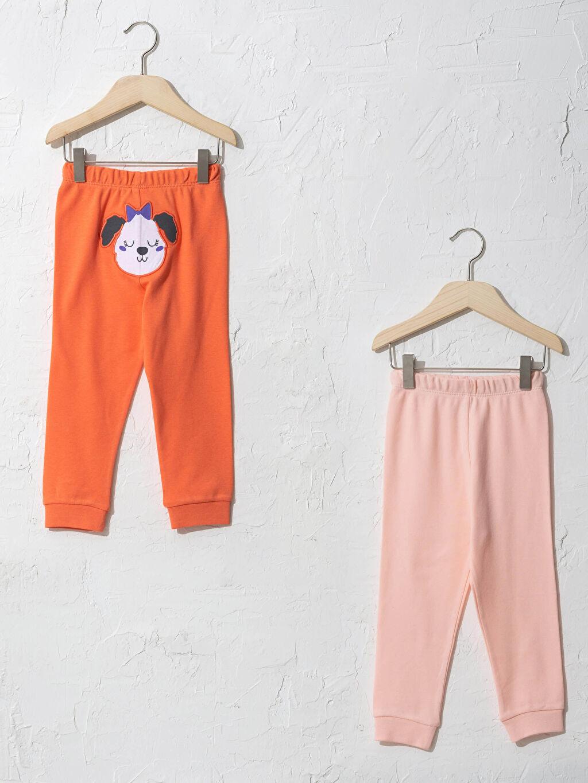 Turuncu Kız Bebek Pijama Alt 2'Li 0W8076Z1 LC Waikiki