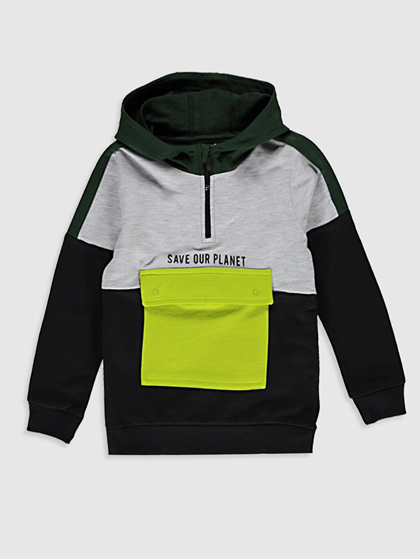 Antrasit Erkek Çocuk Kapüşonlu Sweatshirt 0WG233Z4 LC Waikiki