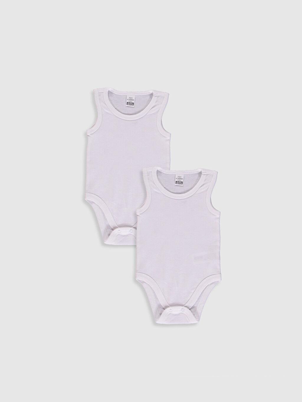 Beyaz Erkek Bebek Çıtçıtlı Body 2'Li 0WG644Z1 LC Waikiki