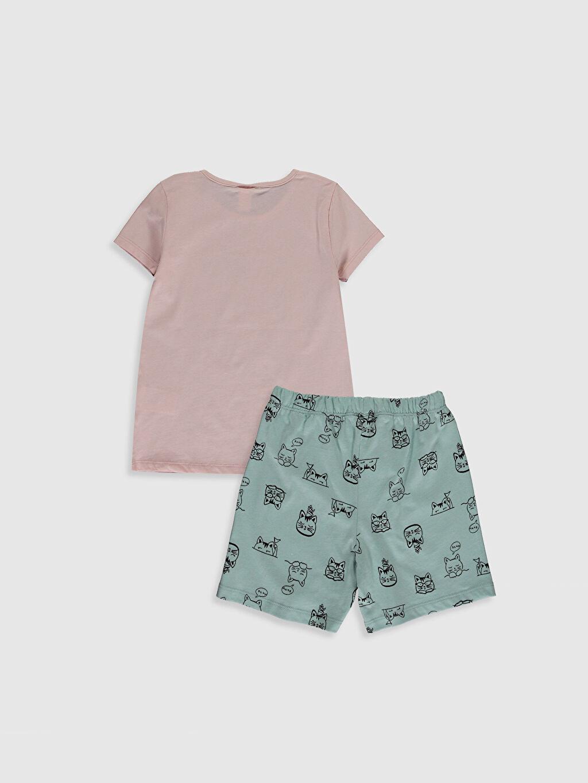 %100 Pamuk %100 Pamuk Standart İnce Pijama Takım Bisiklet Yaka Kısa Kol Kız Çocuk Organik Pamuklu Pijama Takımı