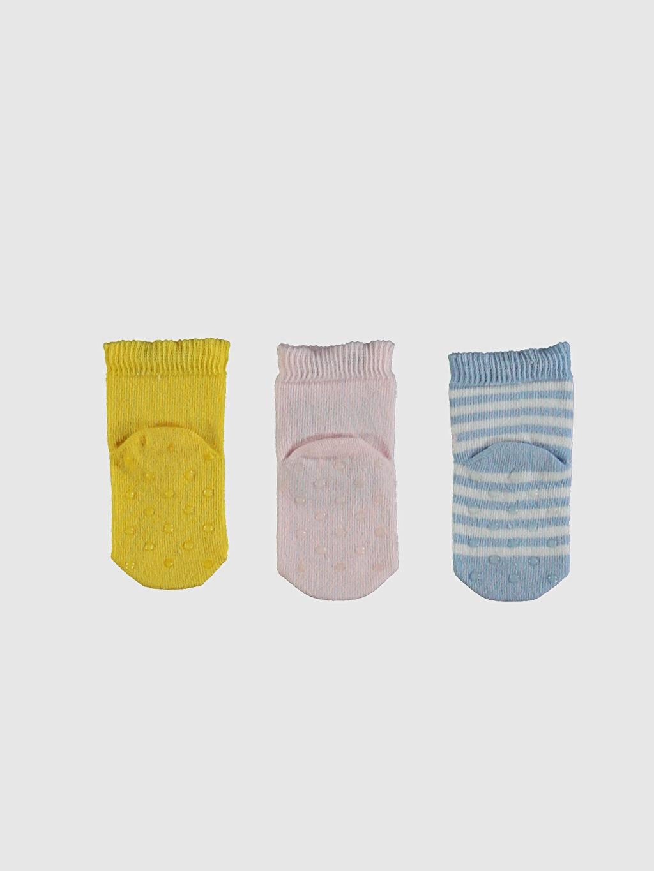 Kız Bebek Kız Bebek Soket Çorap 3'Lü