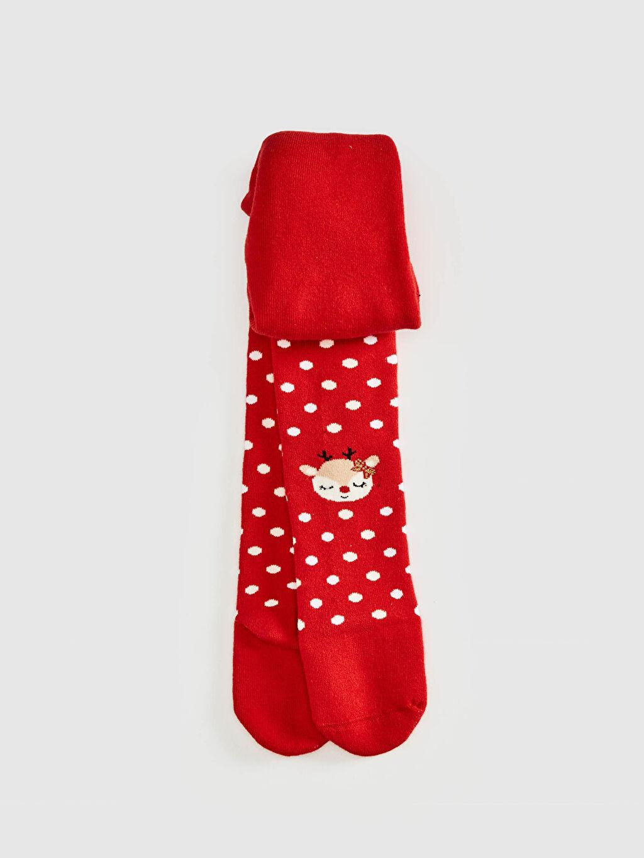Kırmızı Kız Bebek Külotlu Çorap 0WAF79Z1 LC Waikiki