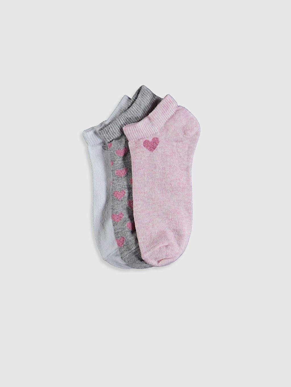 Pembe Kız Çocuk Patik Çorap 3'Lü 0WAJ95Z4 LC Waikiki