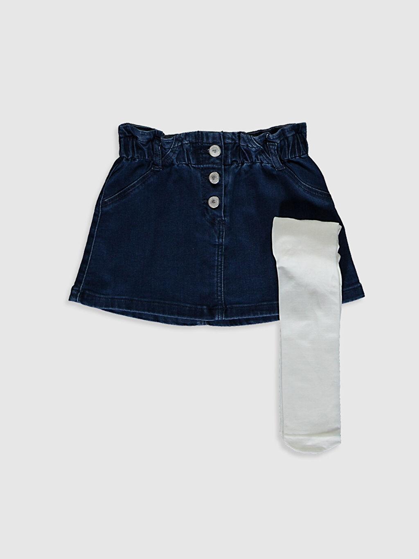 İndigo Kız Bebek Jean Etek Ve Külotlu Çorap 0WAL24Z1 LC Waikiki