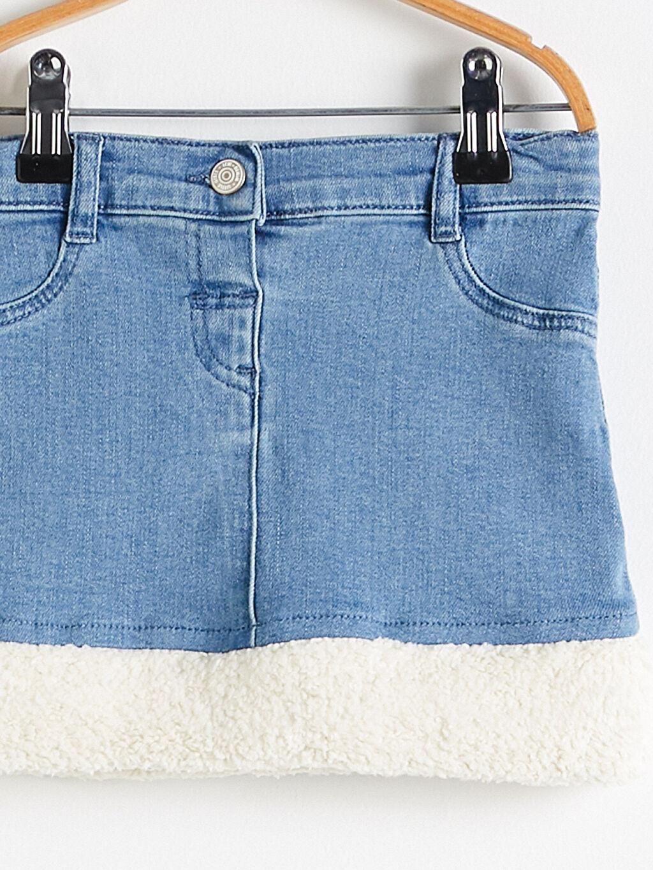 %99 Pamuk %1 Elastan Standart Astarsız Jean Etek Orta Kalınlık Çorap Düz Casual/Günlük Yüksek Pamuk İçerir Kız Bebek Jean Etek