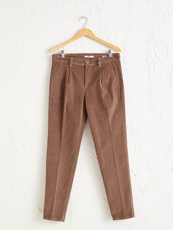 Bej Slim Fit Gabardin Pantolon 0WAO58Z8 LC Waikiki