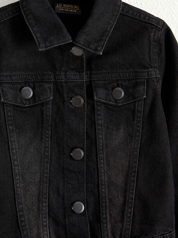 Siyah Kız Çocuk Jean Ceket