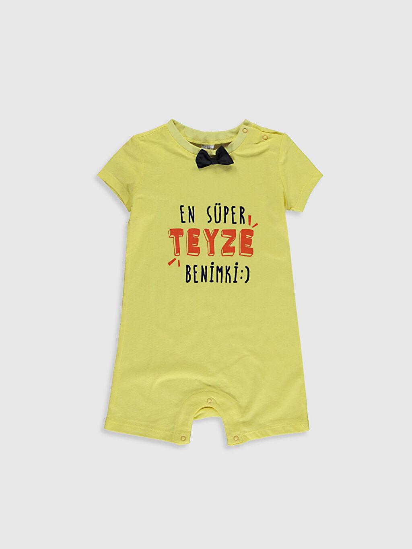 Sarı Erkek Bebek Baskılı Tulum 0WBS65Z1 LC Waikiki