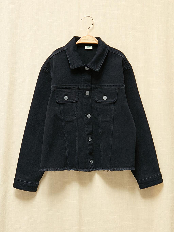 Siyah Kız Çocuk Doğa Dostu Jean Ceket 0WCC84Z4 LC Waikiki