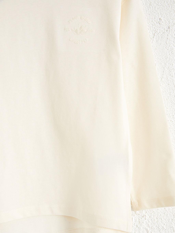 %100 Pamuk Kız Çocuk Organik Pamuklu Basic Tişört