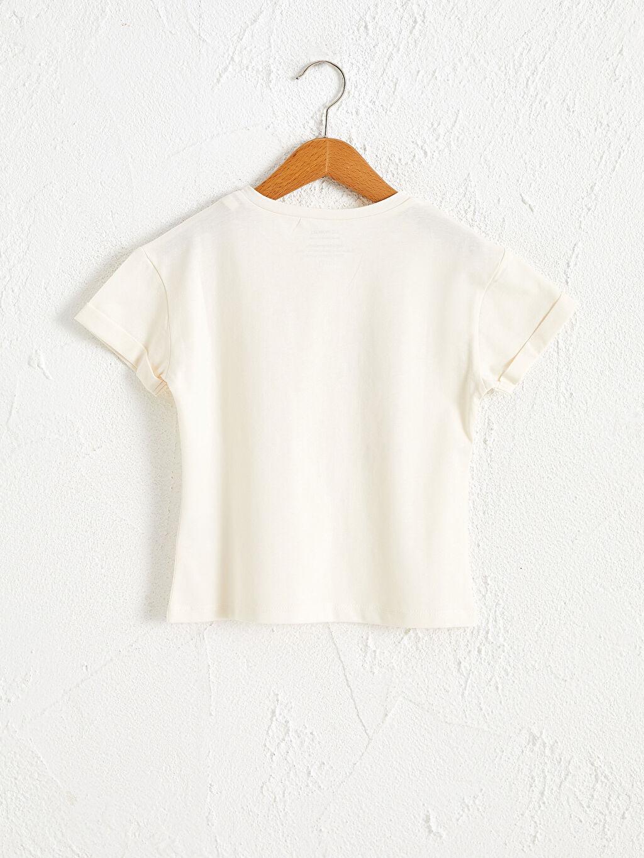 Kız Çocuk Kız Çocuk Organik Pamuklu Tişört