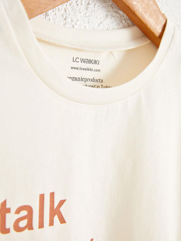 %100 Pamuk Kız Çocuk Organik Pamuklu Tişört
