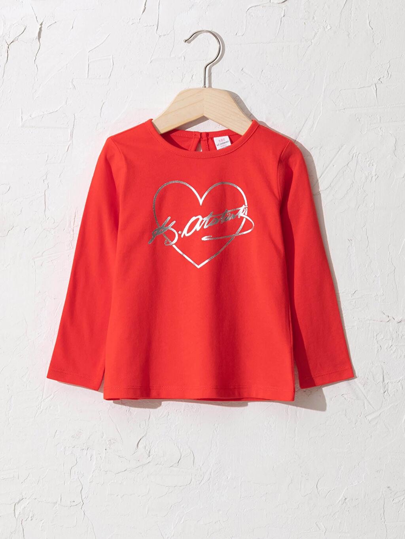 Kırmızı Kız Bebek Atatürk İmza Baskılı Tişört 0WCG80Z1 LC Waikiki
