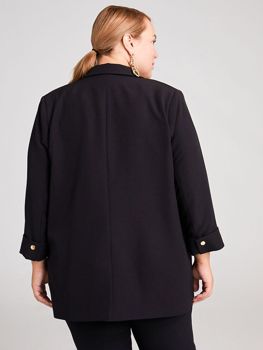 LC Waikiki Siyah Esnek Blazer Ceket