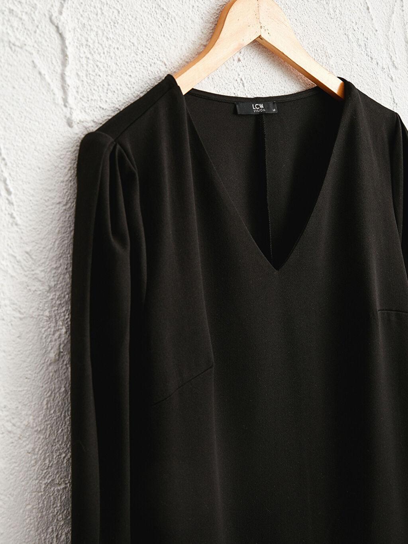 LC Waikiki Siyah Düz Kesim Salaş Elbise