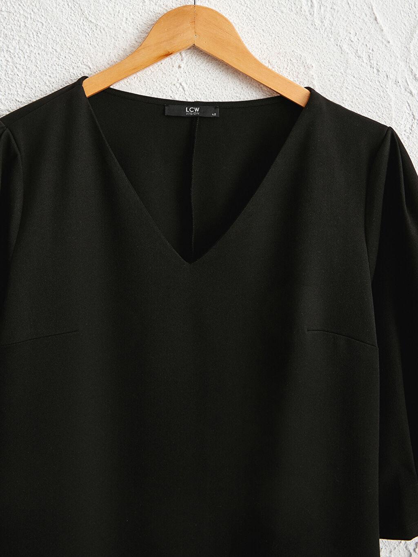 Siyah Düz Kesim Salaş Elbise