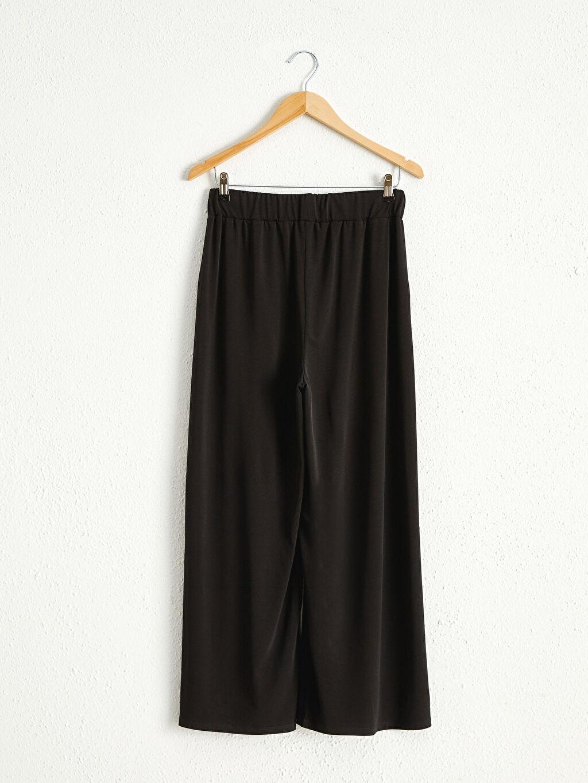 Kadın Beli Lastikli Cepli Pantolon Etek