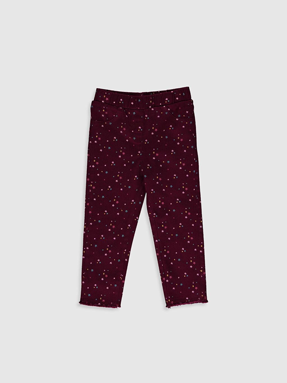 Bordo Kız Bebek Pantolon 0WDM75Z1 LC Waikiki