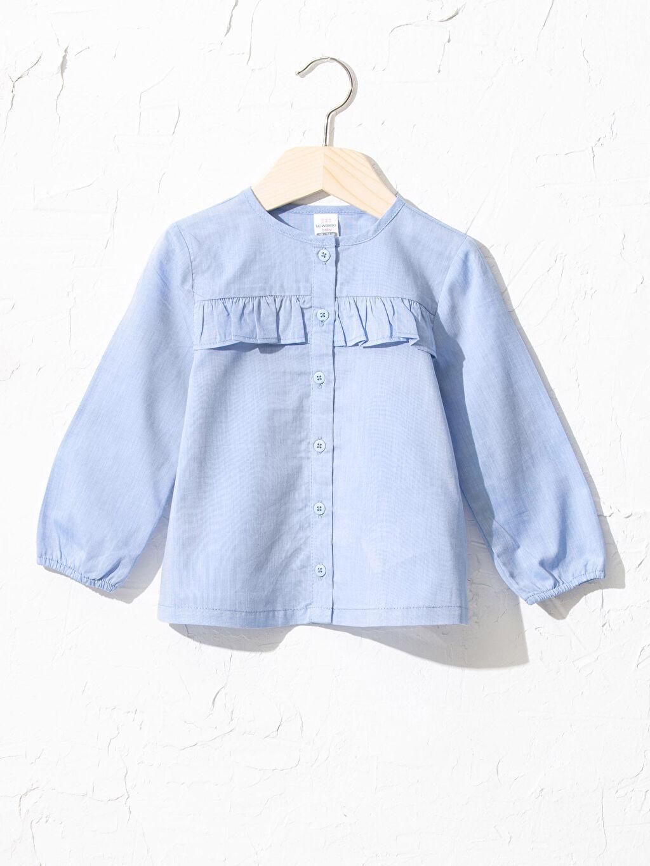 Mavi Kız Bebek Bluz 0WDQ96Z1 LC Waikiki
