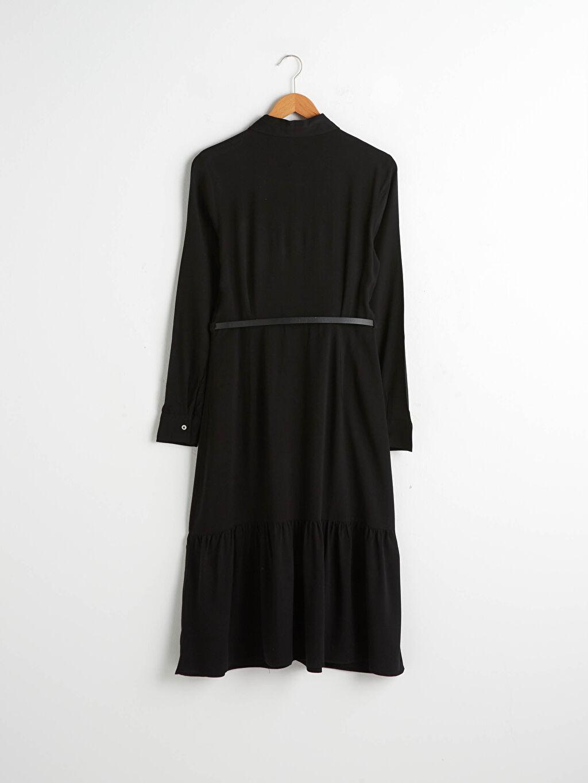 0WEC48Z8 Kemerli Şifon Elbise