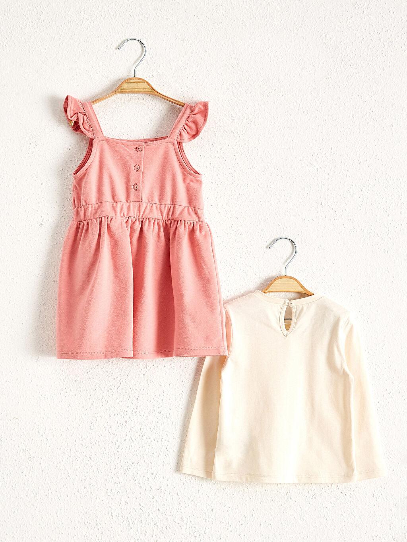 Kız Bebek Kız Bebek Minnie Mouse Baskılı Tişört Ve Elbise