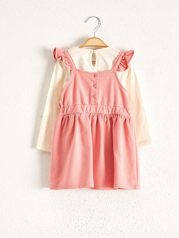 Kız Bebek Minnie Mouse Baskılı Tişört Ve Elbise