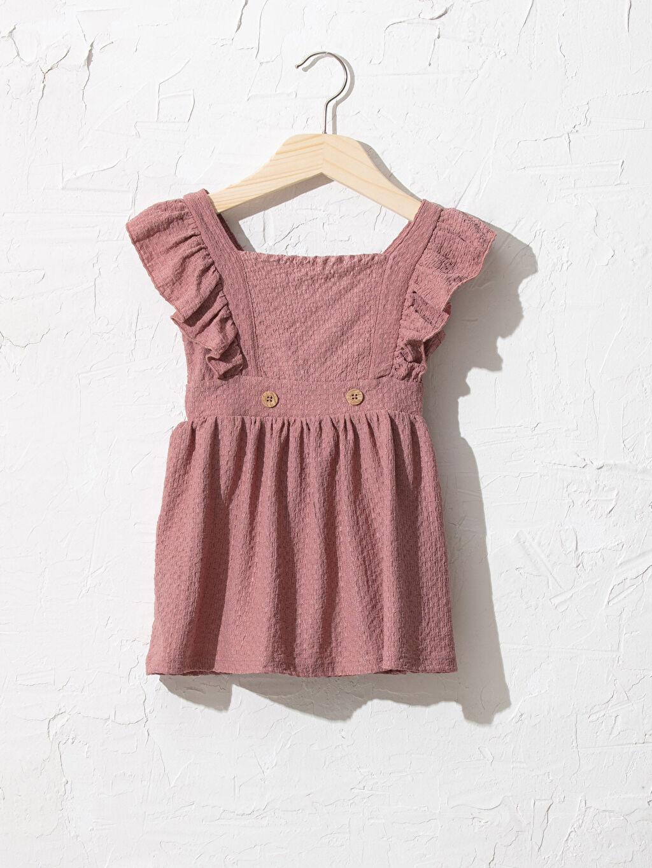 Pembe Kız Bebek Elbise 0WEG01Z1 LC Waikiki