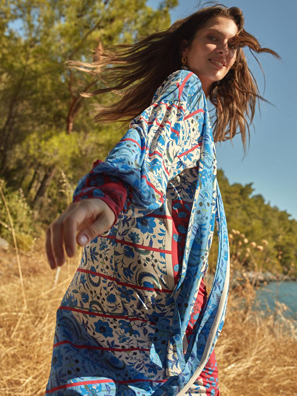 0WEM51Z8 Oopscool X Lcwaikiki Çiçek Desenli Elbise