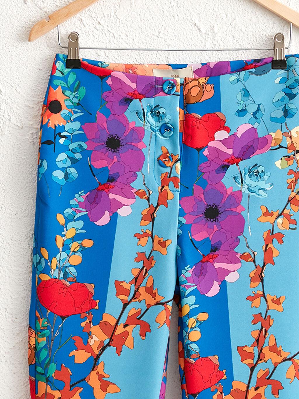 0WEM53Z8 Oopscool Bilek Boy Çiçek Desenli Pantolon