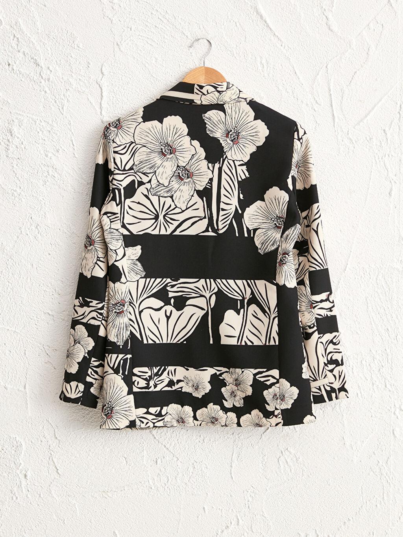 0WEM57Z8 Oopscool X Lcwaikiki Çiçek Desenli Blazer Ceket
