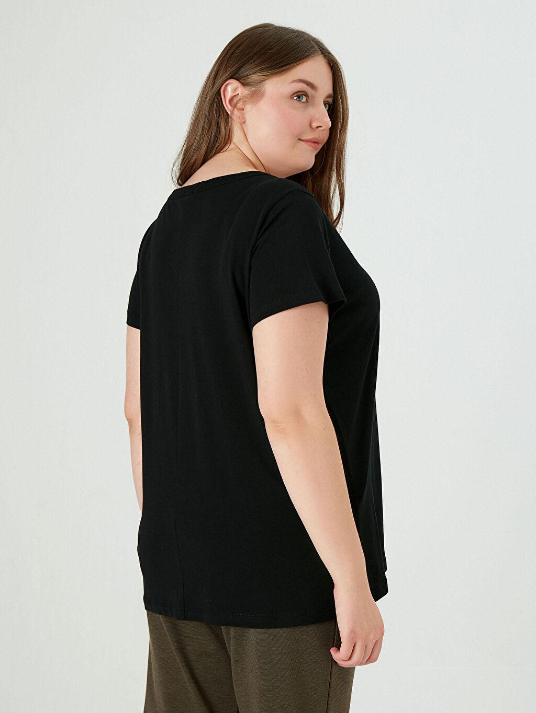 LC Waikiki Siyah V Yaka Basic Tişört