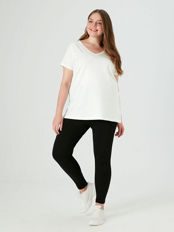Kadın V Yaka Basic Tişört