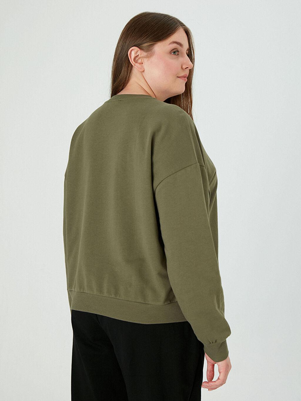 0WES15Z8 Yazı Baskılı Sweatshirt