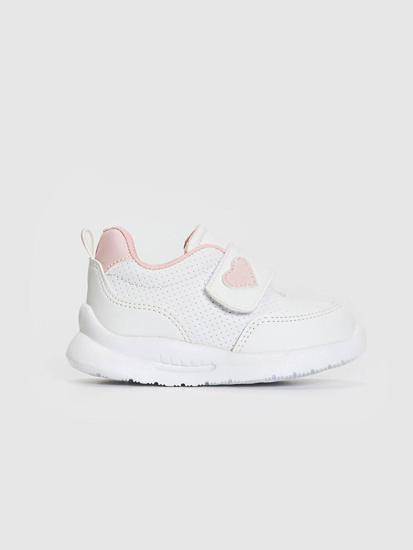 Beyaz Kız Bebek Cırt Cırtlı Yürüme Öncesi Ayakkabı 0WEY70Z1 LC Waikiki