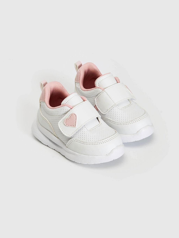 %0 Diğer malzeme (poliüretan) Işıksız Yürümeyen Kız Bebek Cırt Cırtlı Yürüme Öncesi Ayakkabı