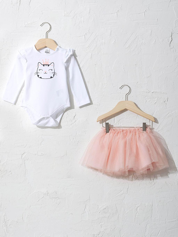 Beyaz Kız Bebek Takım 2'Li 0WFB04Z1 LC Waikiki
