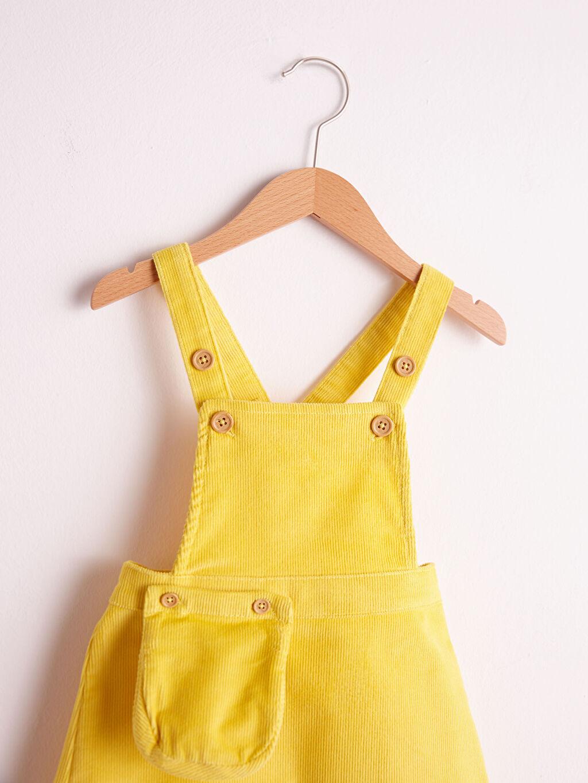 %98 Pamuk %2 Elastan Elbise Aksesuarsız Belden Oturtma Kolsuz Kadife Astarsız Orta Kalınlık Yüksek Pamuk İçerir Kız Bebek Kadife Elbise