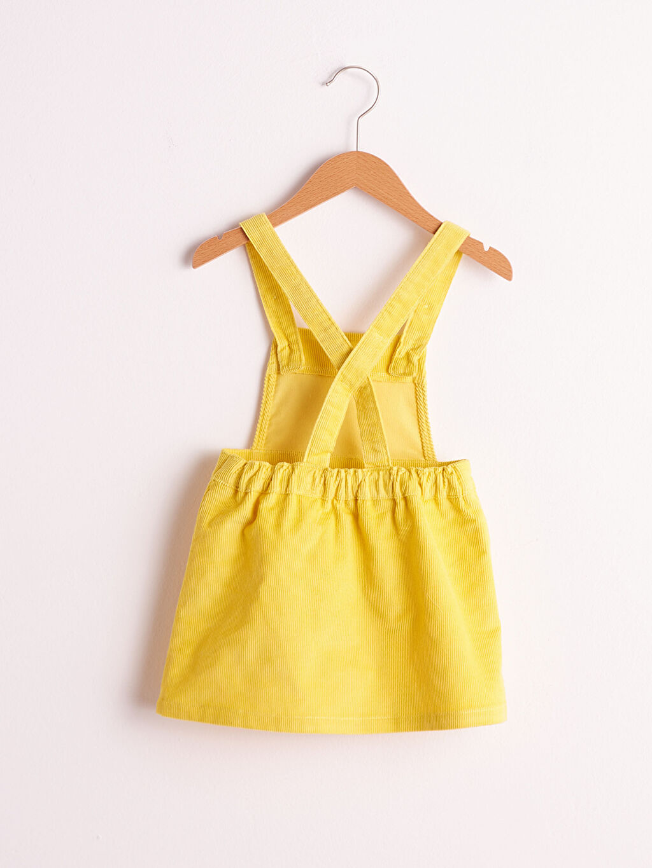 %98 Pamuk %2 Elastan Kız Bebek Kadife Elbise